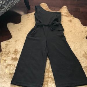 Gray one shoulder jumpsuit  by BR